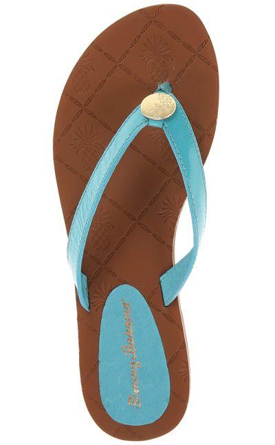 Tommy Bahama Havana Patent Leather Sandal