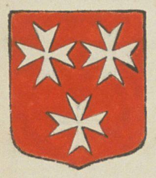 Philippe GIBOREAU, escuier, sieur de la Rousselière. Porte : de gueules, à trois croix de Malte d'argent, deux en chef et une en pointe | N° 380