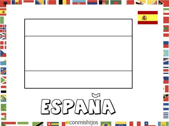 Bandera De Brasil Para Colorear: Bandera De España. Dibujos De Banderas Para Pintar