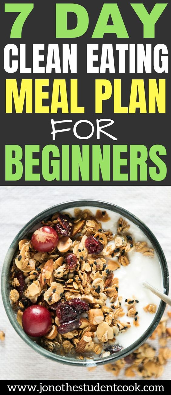 7 Day Clean Eating Meal Plan For Beginners