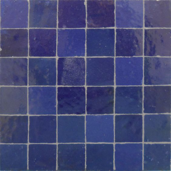 Awesome Vivid Blue Tile Bathroom  Contemporary  Bathroom  Tampa  By