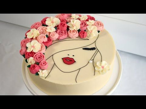 This Floral Face Cake Gives New Meaning To Flowers In Your Hair See How To Make This Gorgeous Cake And Stunning Butter Cake Decorating How To Make Cake Cake