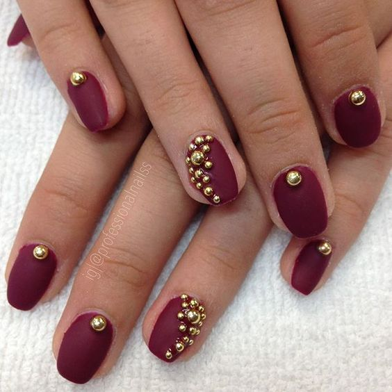 """""""Bubbly bold gold balls for your pretty nails """" Photo taken by @professionalnailss on Instagram, pinned via the InstaPin iOS App! http://www.instapinapp.com (10/02/2015)"""