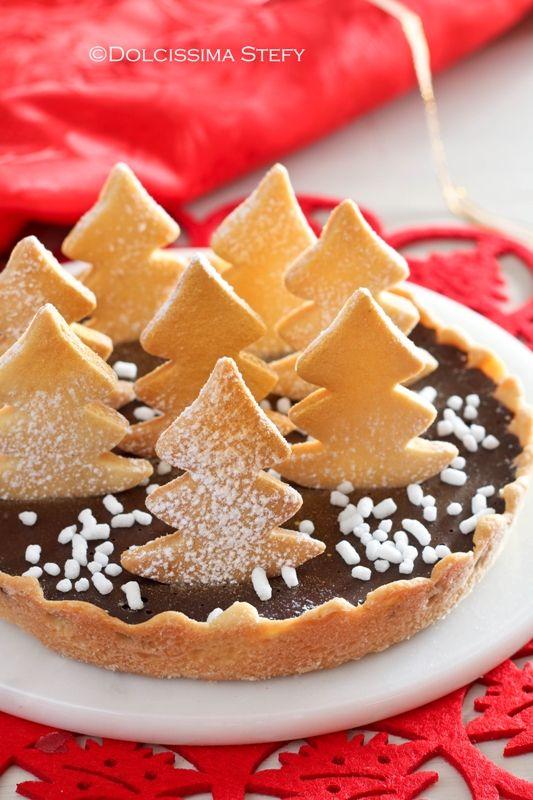 Dolci Natalizi Coreografici.Crostata Per Natale Al Cioccolato Dolcissima Stefy Ricette Di Dolci Natalizi Dolci Ricette Dolci