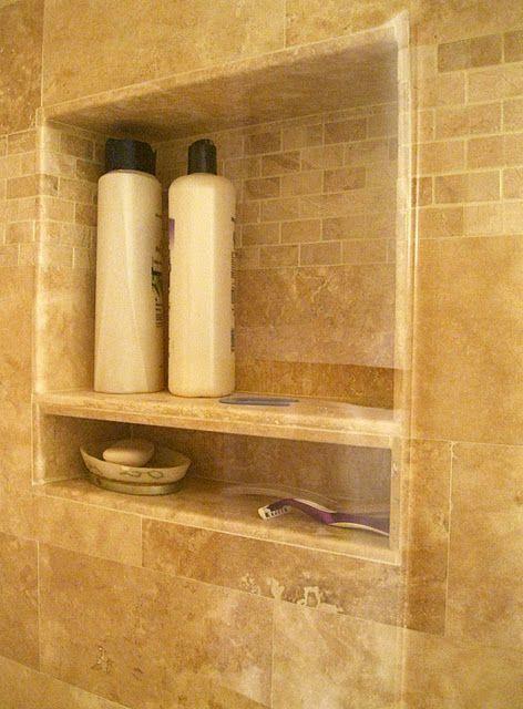 Travertine Shower Niche And Shelves On Pinterest
