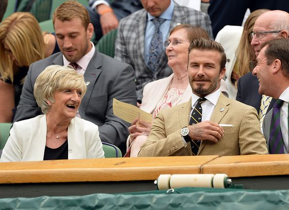 David Beckham treats mum Sandra to courtside seats at Wimbledon