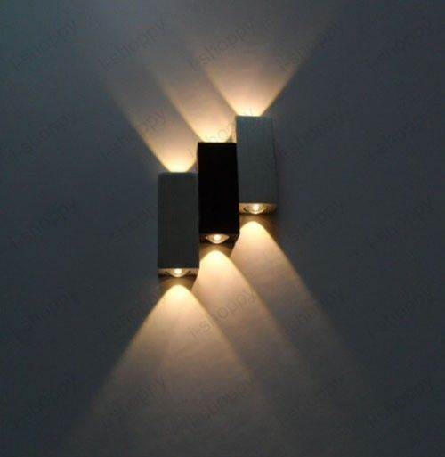 Details about 6W Dimmable LED Wall Sconces Up/Down Light Fixture Hotel Cafe Modern Decor Lamp ...