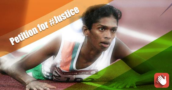 Shri Vijay Goel, Hon Minister of State For Youth Affairs and Sports, Shri Narendra Modi, Hon Prime Minister of India, Shri Pranab Mukherjee, The President of India, Shri T.S.Thakur, Hon Chief Justice of India: Bring back the pride and the medals won by Shanthi Soundarajan