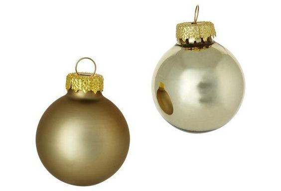 "Asst. of 40 1"" Shiny Ornaments, Gold"