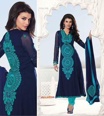 Indian Pakistani Bollywood Designer Salwar ECL Kameez Suit Shalwar ...