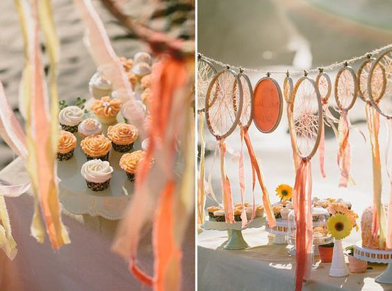 LOVEEEE!!! love the colored dream catchers!!!  Wedding/Party Decor Set of 10 Dreamcatchers with 1 by ISewpose, $85.00