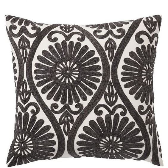 Pottery Barn Daisy Medallion Embroidered Pillow Cover ($60) ❤ liked on Polyvore featuring home, home decor, throw pillows, embroidered throw pillows, pottery barn, pottery barn throw pillows, medallion throw pillows and cotton throw pillows