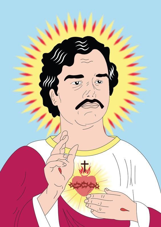 Pablo escobar jesus and heilige on pinterest for Pablo escobar zitate