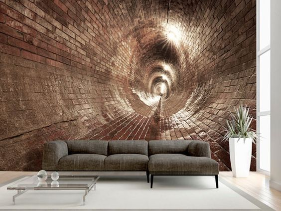 Contemporary Art Decors The Interiors Of A Modern House In Mexico City Living Room Wall Wallpaper 3d Wall Murals Stone Wallpaper