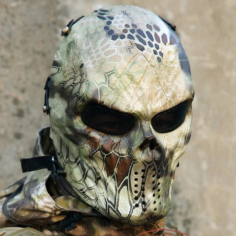 Typhoon Camouflage Hunting Accessories Masks Ghost Tactical Outdoor Military CS Wargame Paintball Airsoft Skull Full Face Mask - Nifty Thrifty Store - 9