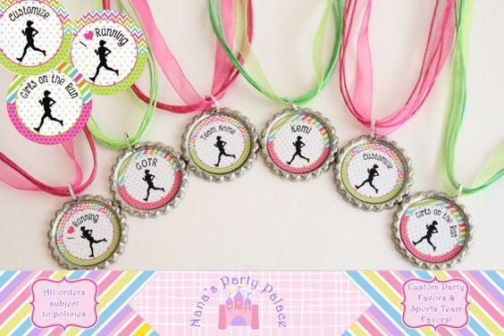 Girls on the Run Girl's Running Team Favor  Girls Running Club  by NanasPartyPalace, $12.00