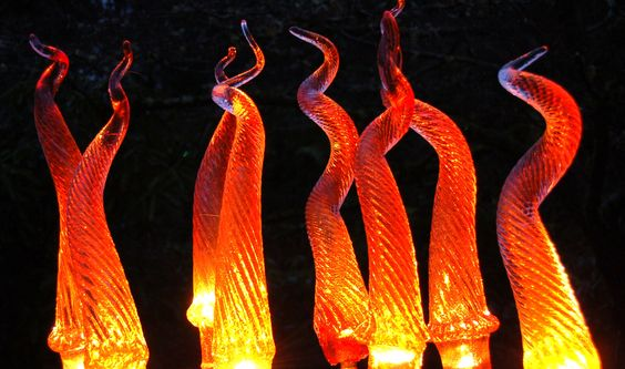 Hand blown glass icicle lights