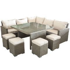 Buy Ellister 5 Seater Rattan Corner Sofa Set at Guaranteed Cheapest Prices with…