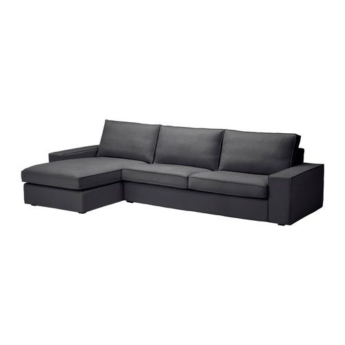 Buy correct couch and correct cover as it comes in 2 sizes IKEA - KIVIK, Sofa and chaise lounge, Dansbo dark gray, .It's easy to combine the sofa with one or more chaise lounges thanks to the removable armrests.The chaise can stand alone or be added onto the sofas or one-seat section in the series.