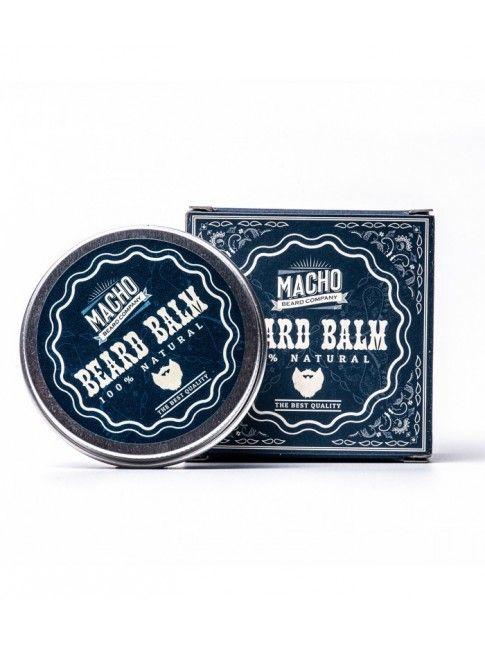 """Bálsamo para Barba """"Macho Beard Company Beard Balm"""" (45ml) El bálsamo para barba """"Macho Beard Company Beard Balm"""" proporciona una sensación de hidratación máxima en tu barba, gracias al Karíte y los aceites esenciales de Jojoba y Coco."""