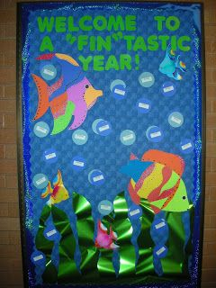 Adventures in Teaching: Back 2 School Bulletin Boards - This one has the kids' names on the bubbles.