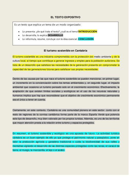 Texto Introducción Desarrollo Y Conclusión Ejemplo De Texto Expositivo Comentario De Texto Tipos De Texto