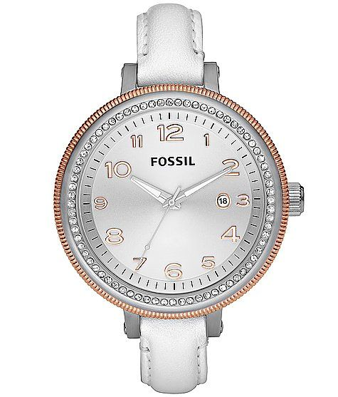 have this watch in brown.... reallllly love the white too! :)