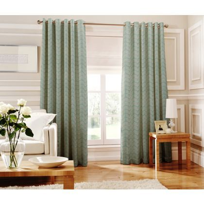 Whiteheads Loretta Teal Lined Curtains - 66 x 72in