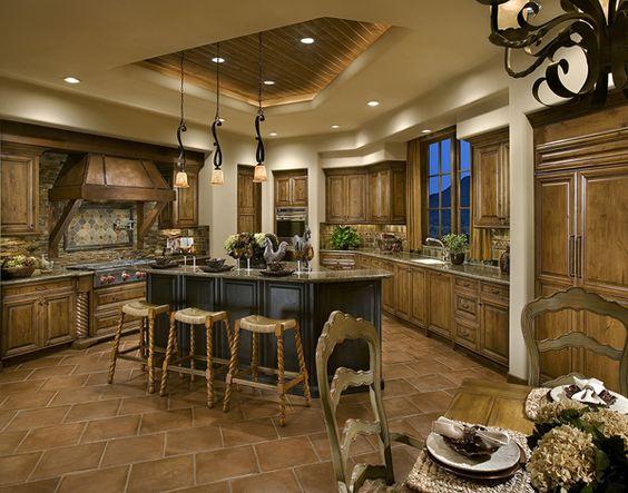 Southwest style kitchen my arizona casa pinterest for Southwest style kitchen cabinets