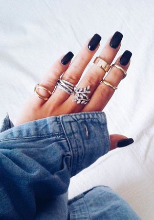 black square acrylic nails - photo #20
