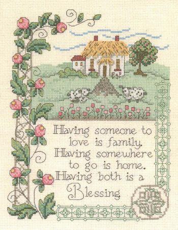Imaginating House Blessing (#2581) - Cross Stitch Pattern - 123Stitch.com