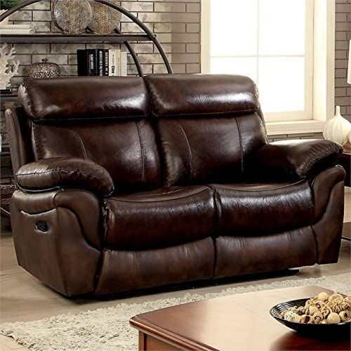 Shop For Furniture America Roberto Transitional Reclining Loveseat Brown Online In 2020 Living Room Recliner Accent Chairs For Living Room Living Room Furniture
