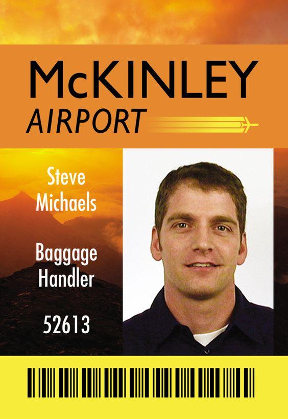 McKinley Airport ID Card Design | [design] ID Card form ...
