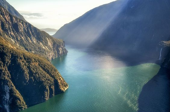 In A Faraway Land - Aerial view of Milford Sound