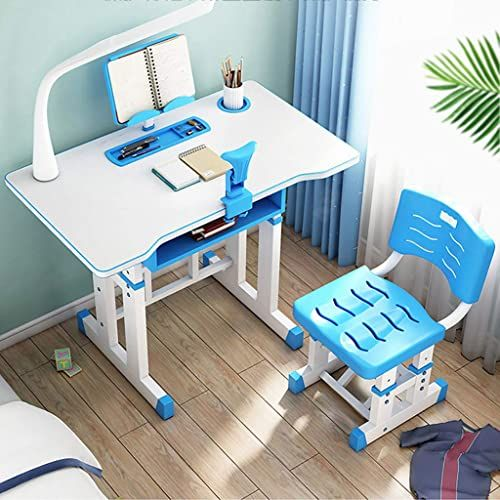 New Hdlrbzz Kids Desk And Chair Set Height Adjustable Children Study Table Tabletop Pull Out Drawer Storage For School Students Study Gifts For Boys And Girl In 2020