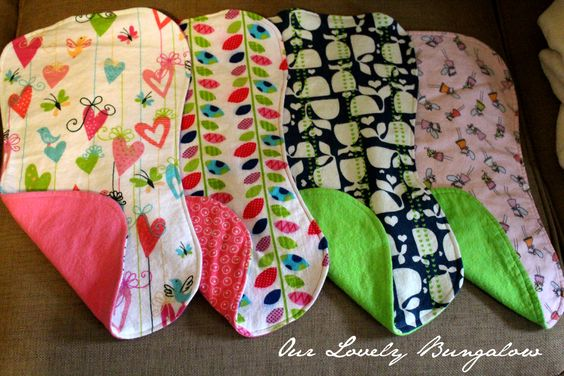 DIY burp clothes, nice idea, too bad my kid needs a whole receiving blanket! Lol!