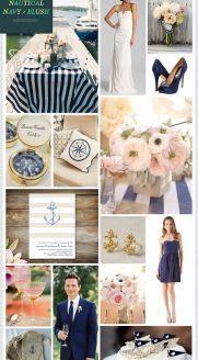 REVEL: Nautical Navy   Blush Wedding Inspiration  - take away the nautical....