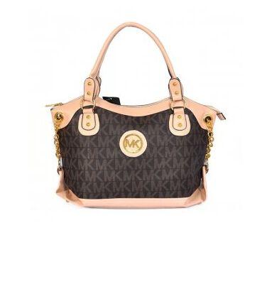 Cheap Michael Kors Outlet Online Women Bags Jacquard Monogram Large Brown Satchels Outlet.