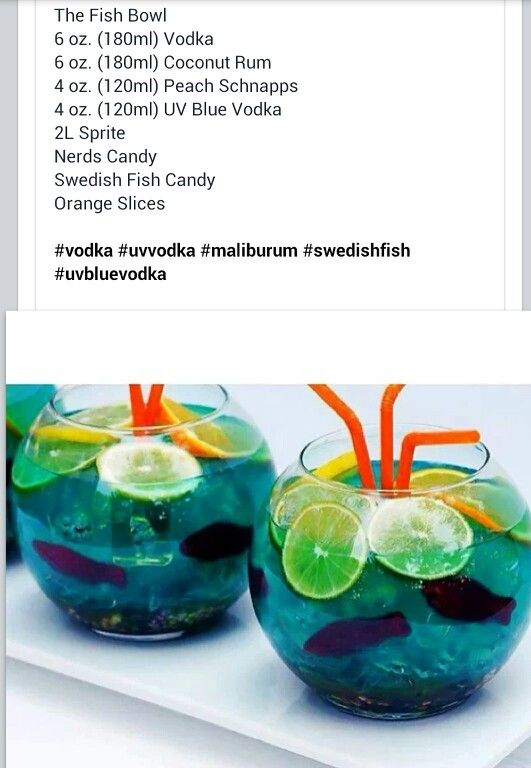 Fish bowl drink drinks pinterest wedding summer for Fish bowl drink recipe