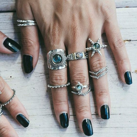 ≫≫≫∣ TRΣΔSURΣ CHΣST ΩҒ JΣШΣLS ∣≪≪≪ S h o p n o w a t www.shopdixi.com // shop dixi // boho // bohemian // hippie // rings // witchy // grunge // magical // mystic // dark // sterling silver // jewellery // jewelry // midi rings // gypsy // gypsy rings // stone // crystals // above knuckle //