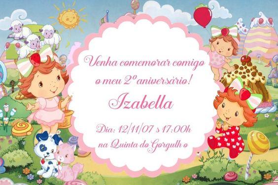 Convite digital personalizado Baby Moranguinho 005