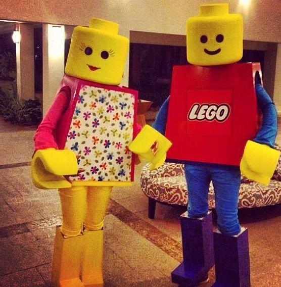Costume de lego lego and d guisements on pinterest - Deguisement tete de lego ...
