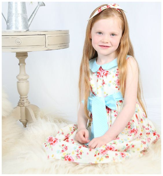 Lucy is an elegant ballet length dress. It is perfect for a wedding or special occasion. It features a beautiful sash which can be tied to the front or back of the dress to completely change the appearance. The bodice is fully lined. Your little girl will feel like a princess wearing this timeless frock - a truly unique piece.