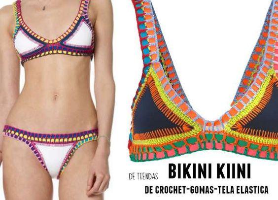 Patrones Crochet: Bikini Kiini entre crochet y gomas