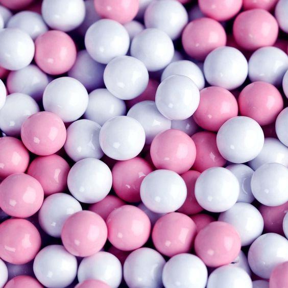 Light Pink & White Sixlets $5.99