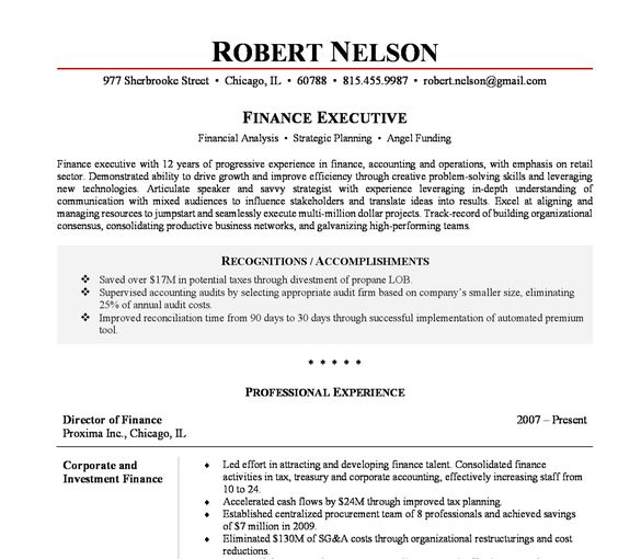 10 Executive Resume Templates by CheckmateResume on Etsy https - director of finance resume