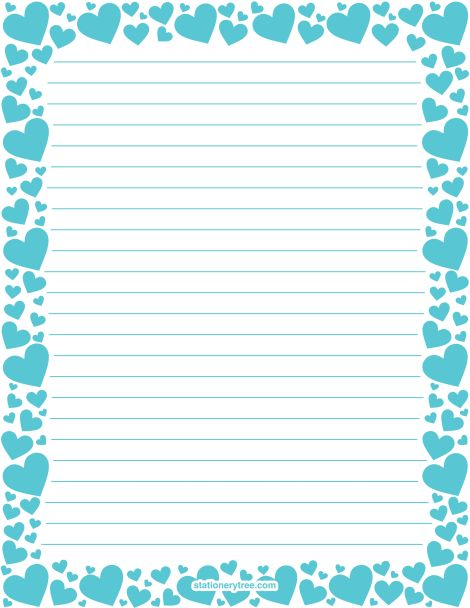 Lined paper border