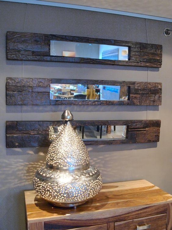 Comment Faire Un Lit En Bois De Grange : Miroir en bois recycl?. 195 $ chez Artemano. bois de grange et