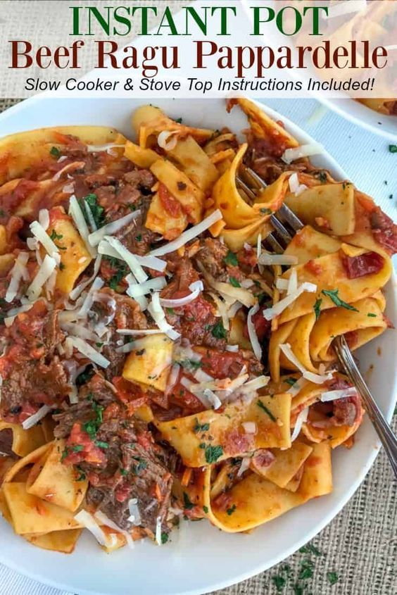 Instant Pot Beef Ragu Pappardelle Sylvia Food Beef Ragu Beef Pasta Recipes Instant Pot Beef