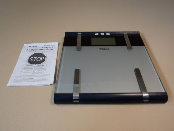 Taylor Body Analyzer Scale Cal Max 2in LCD Display 400lb Capacity 5786 Glass -- Used